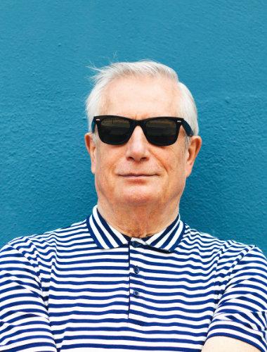 Gen X Guy in sunglasses Bloc Dispensary
